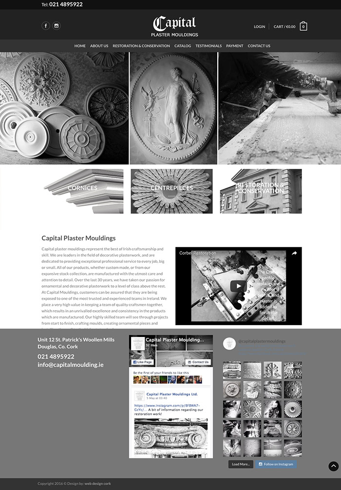 Capital Plaster Mouldings Cork - Web Design Cork